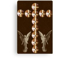 HOT CROSS BUNS CROSS AND ANGELS - JESUS LIVES PICTURE AND OR CARD ECT.. Canvas Print