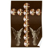 HOT CROSS BUNS CROSS AND ANGELS - JESUS LIVES PICTURE AND OR CARD ECT.. Poster