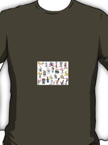 90s Cartoon Characters T-Shirt