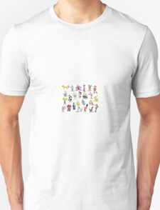 90s Cartoon Characters Unisex T-Shirt