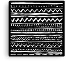 Black Tribal Canvas Print