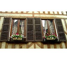 French windows, Auxerre, France Photographic Print