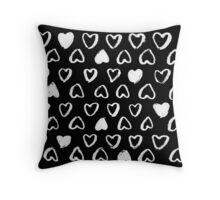 Corazón negro Throw Pillow