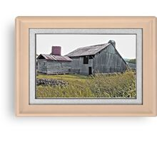 """Nostalgic Old Barn, the Back Side"" ...with a matted and framed presentation for prints and products  Canvas Print"