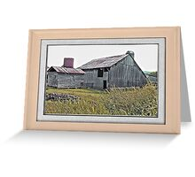 """""""Nostalgic Old Barn, the Back Side"""" ...with a matted and framed presentation, for prints and products  Greeting Card"""