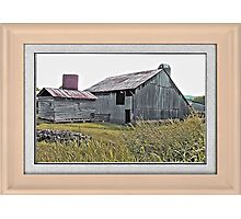 """Nostalgic Old Barn, the Back Side"" ...with a matted and framed presentation, for prints and products  Photographic Print"