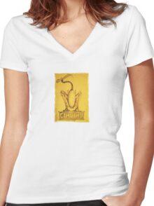 Alien V Elder Women's Fitted V-Neck T-Shirt
