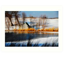 The Caddy Shack On Ice Art Print