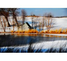 The Caddy Shack On Ice Photographic Print