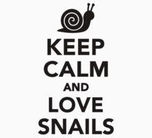 Keep calm and love snails Kids Tee