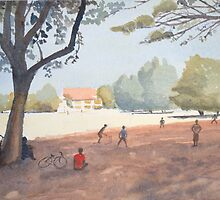 Cricket match, India by Nick Clark by HurstPainters