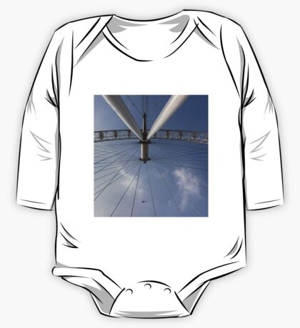 The London Eye And Apache Helicopter One Piece - Long Sleeve