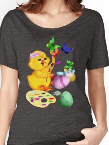 Easter Chick Paints Women's Relaxed Fit T-Shirt