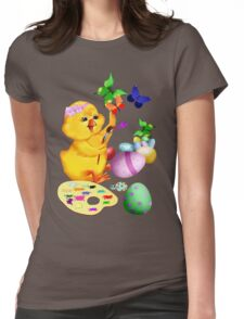 Easter Chick Paints Womens Fitted T-Shirt