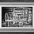 """'Back to the Dump Rake, Boys'"" ... with a matted and framed presentation, for prints and products by © Bob Hall"