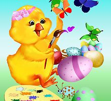 Easter Chick Paints by Lotacats