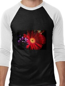 Red daisy Men's Baseball ¾ T-Shirt
