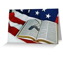 God And Country Greeting Card