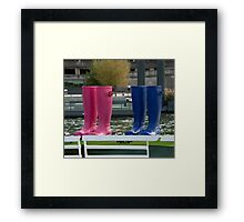 Bet Your Boots! Framed Print