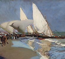 Joaquin Sorolla y Bastida - La playa de Valencia 1908 by Adam Asar