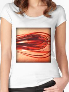 Curves in red Women's Fitted Scoop T-Shirt