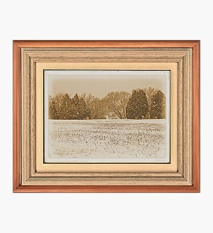 """Wide Country Christmas"" ... with a matted and framed look, for prints and products Photographic Print"