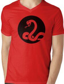 Snake moon Mens V-Neck T-Shirt