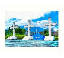 Crosses of Altagracia - Nicaragua Art Print