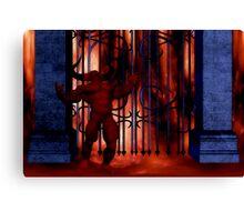 argh who locked the gates? Canvas Print