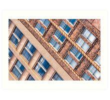 Blocks - Asheville, North Carolina Architecture Art Print