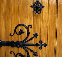 Decorative Gothic Door Hinge by Orla Cahill