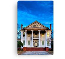 Winter Blue - Old Southern Home Canvas Print
