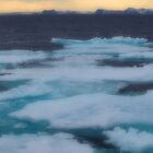Nordkappsundet Mountains and Ice Field by John Dalkin