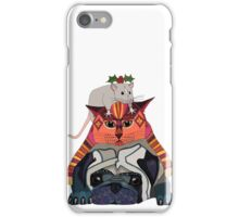 holly mouse cat pug iPhone Case/Skin