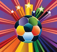 Soccer Ball with Stars by AnnArtshock