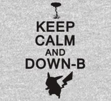 Keep Calm and Down-B Pikachu [Black] by chauncychoo