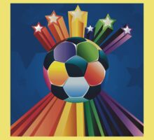 Soccer Ball with Stars 4 Kids Clothes