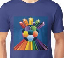 Soccer Ball with Stars 4 Unisex T-Shirt