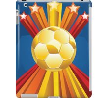 Soccer Ball with Stars 5 iPad Case/Skin
