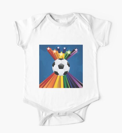 Soccer Ball with Stars 7 One Piece - Short Sleeve