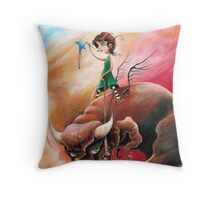 Peace That Conquered Beast Throw Pillow
