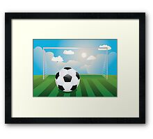 Soccer Goal with Ball Framed Print