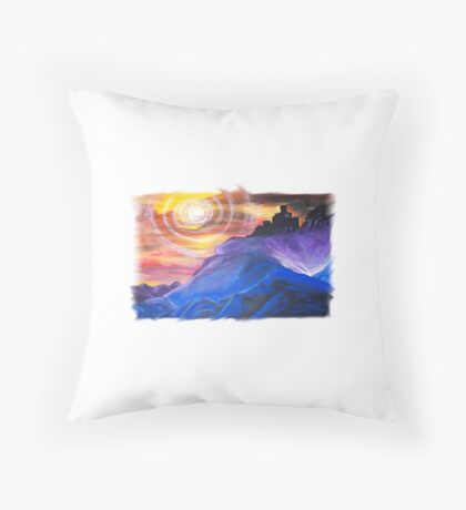 Electricity Volcano Throw Pillow