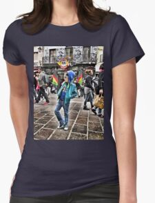 Shopping street Womens Fitted T-Shirt