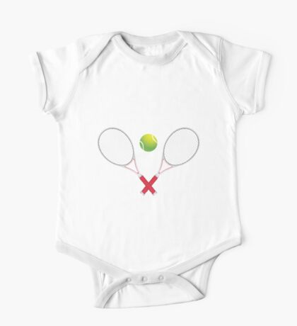Tennis Ball and Racket One Piece - Short Sleeve