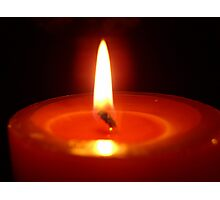Candle and Flame Photographic Print