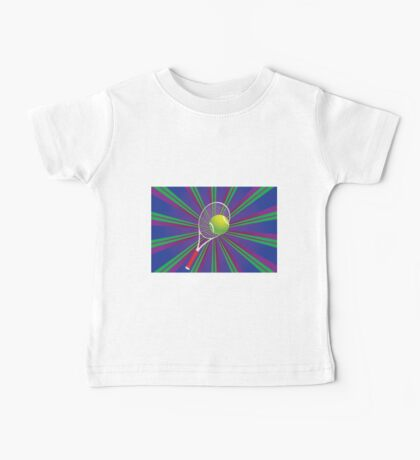 Tennis Ball and Racket 2 Baby Tee