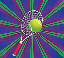 Tennis Ball and Racket 2 by AnnArtshock