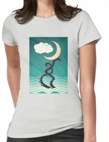 The octopus and the sea II (a lullaby) Womens Fitted T-Shirt