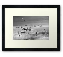 Battle of Britain Day black and white version Framed Print